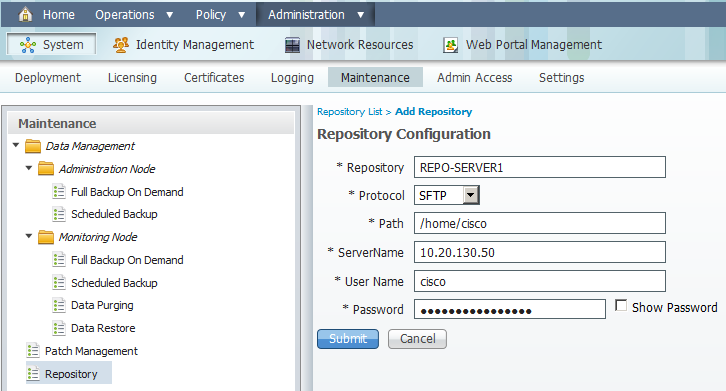 ISE – Backups | Network Included